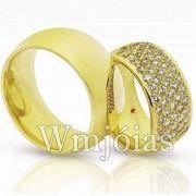 Aliança Luxuosa de Casamento 22 a 25 gramas e 8mm WM3095