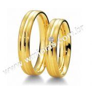 Alianca noivado e casamento 18k WM1984