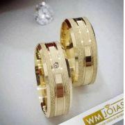 Aliança noivado e casamento ouro  Peso 12 gramas o par Largura 6mm- WM10030