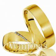 Aliança ouro WM3006