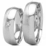 Aliança para namoro em prata WM3223