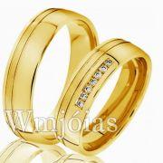 Aliança para noivado e casamento WM2999
