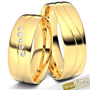 Alianças Bruxelas ouro amarelo 18k 5mm WM10336