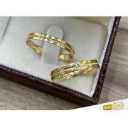 Alianças Casamento Baratas Ouro 3mm - WM9289