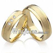Alianças casamento em ouro WM2202