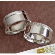 Alianças Catolicas de prata 18G 9mm - WM10197