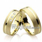 Alianças de casamento com diamantes WM2205