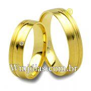 Aliancas de casamento e noivado 18k 750 WM2506