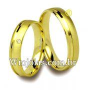 Aliancas de casamento e noivado 18k 750 WM2514