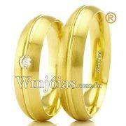 Alianças de casamento e noivado 18k WM2384