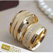 Alianças de casamento e Noivado  Peso 15 gramas o par Largura 7 mm- WM10079