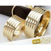 Alianças de Casamento e Noivado  Peso 16 gramas o par Largura 8mm- WM10040