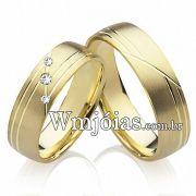 Alianças de casamento em ouro WM2207