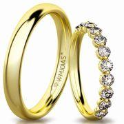Alianças de casamento em ouro WM3147