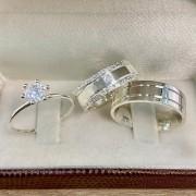 Alianças de compromisso prata 950 WM10289