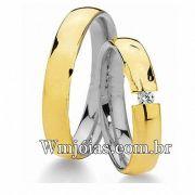 Aliancas de noivado casamento em Ouro 18k e Prata WM2659