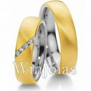 Aliancas de noivado casamento em Ouro 18k e Prata WM2823