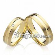 Alianças de noivado com diamantes WM2210