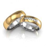 Alianças de noivado e casamento Abaulada 8mm - WM10308