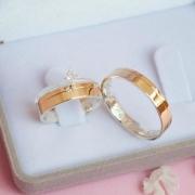 Aliancas de noivado e casamento ouro 18k e prata com anel WM10326