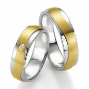 Aliancas de noivado e casamento ouro 18k e prata WM2559
