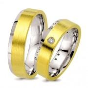 Aliancas de noivado e casamento ouro 18k e prata WM2560