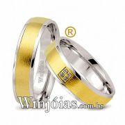 Aliancas de noivado e casamento ouro 18k e prata WM2562