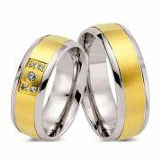 Alianças de noivado e casamento ouro 18k e prata WM2603