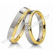 Aliancas de noivado e casamento ouro 18k e prata WM2935