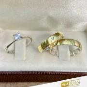 Aliancas de noivado e casamento ouro 18k e prata WM2952