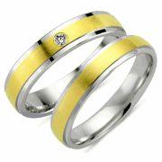 Alianças de noivado e casamento ouro