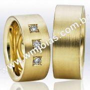 Alianças de ouro São paulo WM2288