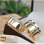 Alianças de para casamento  Peso 16 gramas o par Largura 8mm- WM10007