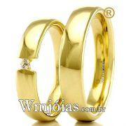 Alianças em ouro 18k 750 WM2289