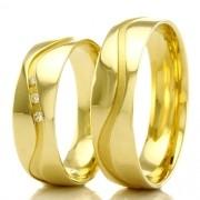 Alianças em ouro 18k 750 WM2297