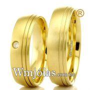 Alianças em ouro 18k 750 WM2303