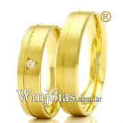 Aliancas em ouro 18k 750 WM2328