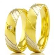 Alianças em ouro 18k 750 WM2372