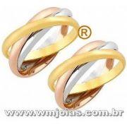 Alianças em ouro 18k 750 WM2391