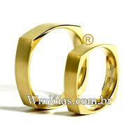 Alianças em ouro 18k 750 WM2530