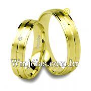 Alianças em ouro 18k 750 WM2548