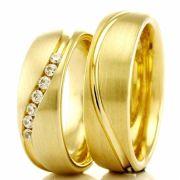 Alianças em ouro 18k 750 WM2647