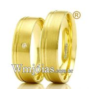 Aliancas em ouro 18k casamento e noivado. WM2330