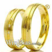 Alianças em ouro 18k noivado e casamento WM2295