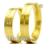 Alianças em ouro 18k para casamento e noivado WM2299