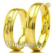Alianças em ouro 18k para casamento WM2290