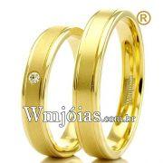 Alianças em ouro 18k para casamento WM2293