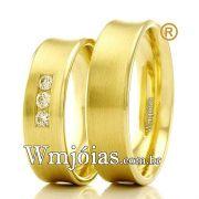 Aliancas em ouro 18k WM2327