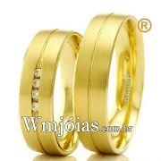 Aliancas em ouro 18k WM2333