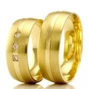 Aliancas em ouro 18k WM2356